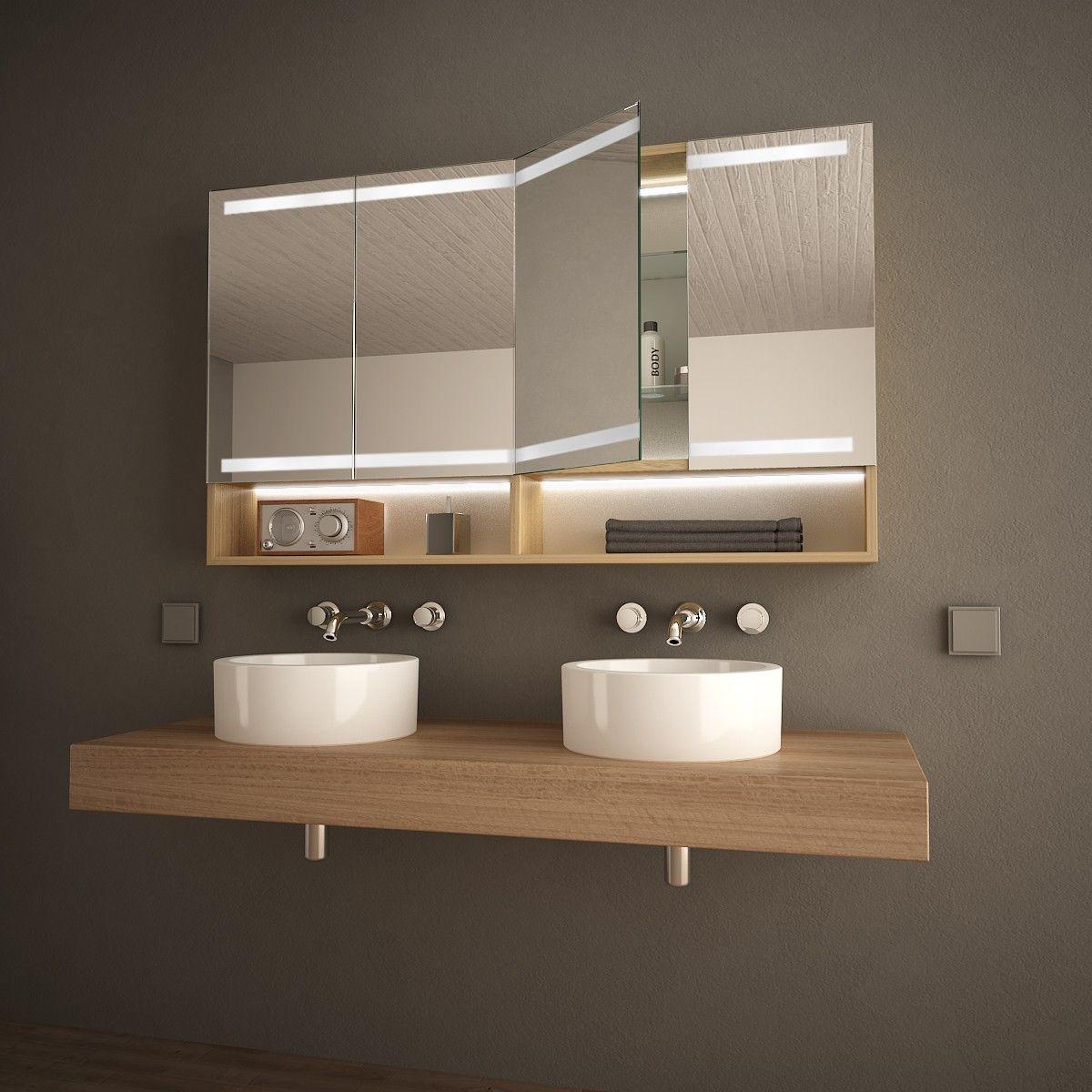Holz Spiegelschrank Fur Das Bad Armario Badezimmer Spiegelschrank Spiegelschrank Bad Spiegelschrank