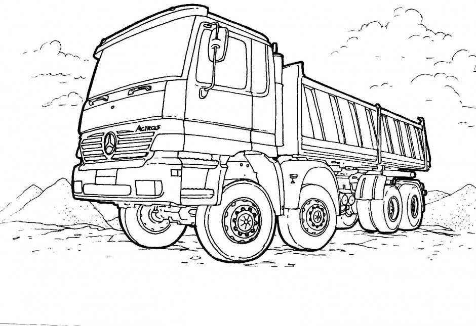 Trash Truck Coloring Pages | Coloring Pages | Pinterest | Free ...