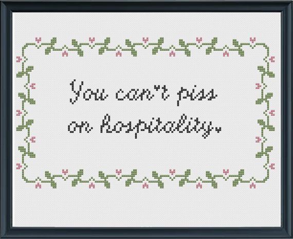 You Cant Piss on Hospitality Troll 2 by SewHappyCrossStitch, $500 - hospitality resume