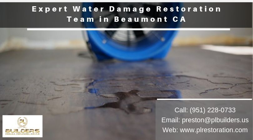 Contact pl builders 24 hours a day for water damage
