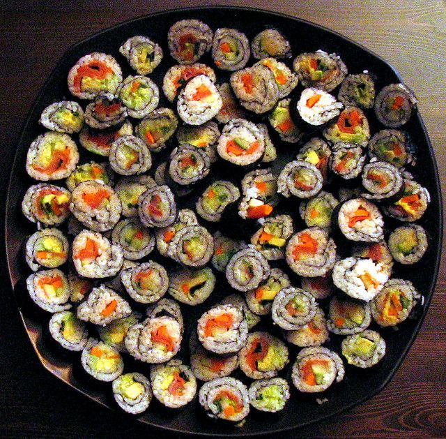 sushi plate by mobob, via Flickr