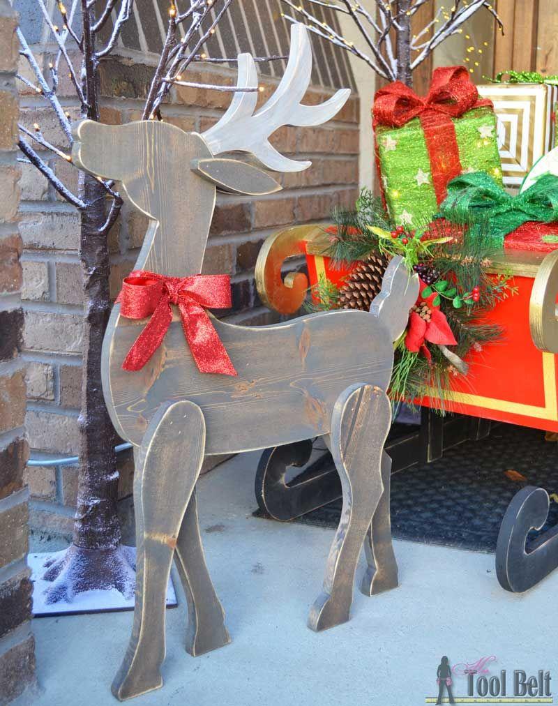 Diy wood reindeer hubbys honey dous pinterest christmas