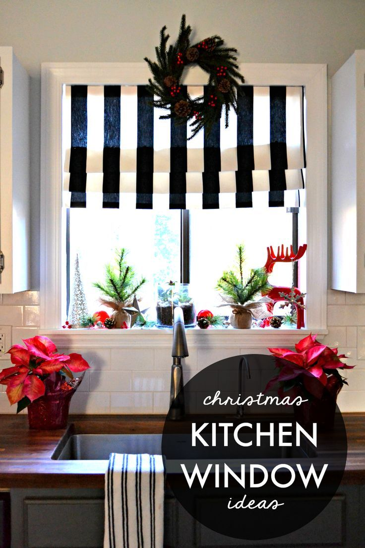 Window decor for christmas  decking the halls my christmas kitchen window  mantels christmas