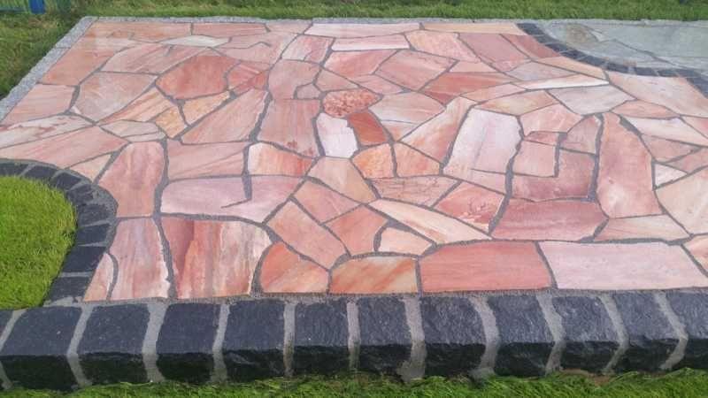 kuhles naturstein terrassenplatten polygonalplatten eben bild oder fdcfedface