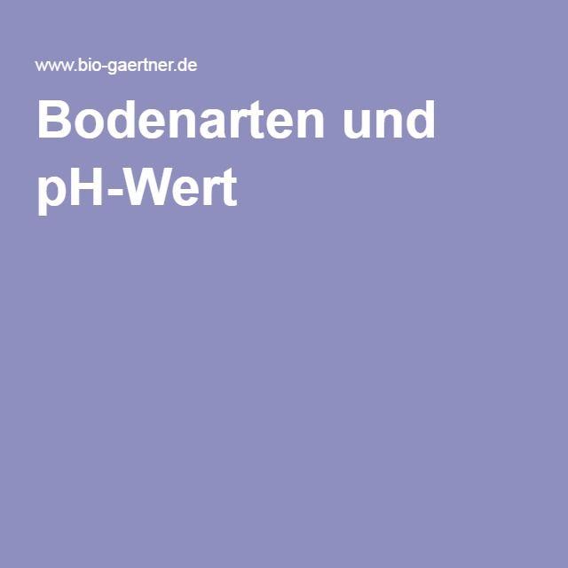 Bodenarten und pH-Wert