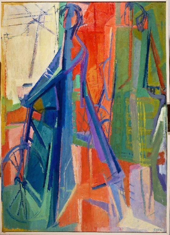 "Tullia Socin (Italian, 1907-1995) - ""Cicliste"" (Bicyclists), 1953"