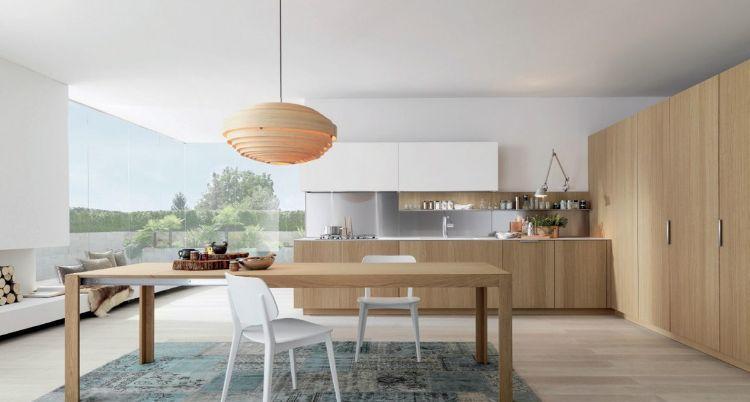 Cuisine bois et blanc moderne \u2013 25 idées d\u0027aménagement September