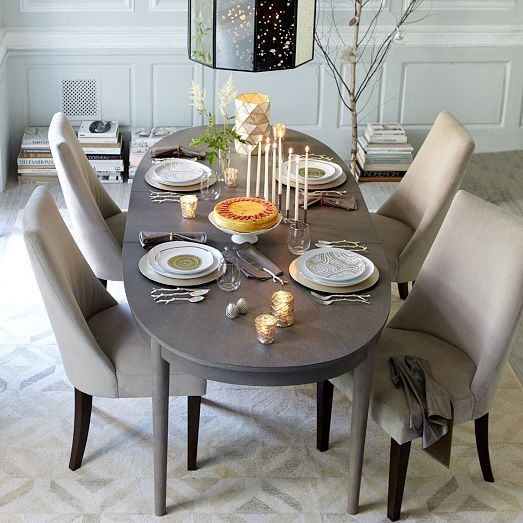 Starburst Expandable Dining Table West Elm Grey Dining Tables