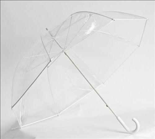 d3cc67704d7b Clear Oversized Bubble Umbrella with White Trim 52