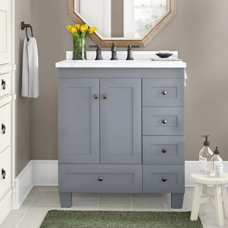 Lauder 30 Single Bathroom Vanity Set Joss Main In 2020 With Images Single Bathroom Vanity Bathroom Vanity Vanity Set