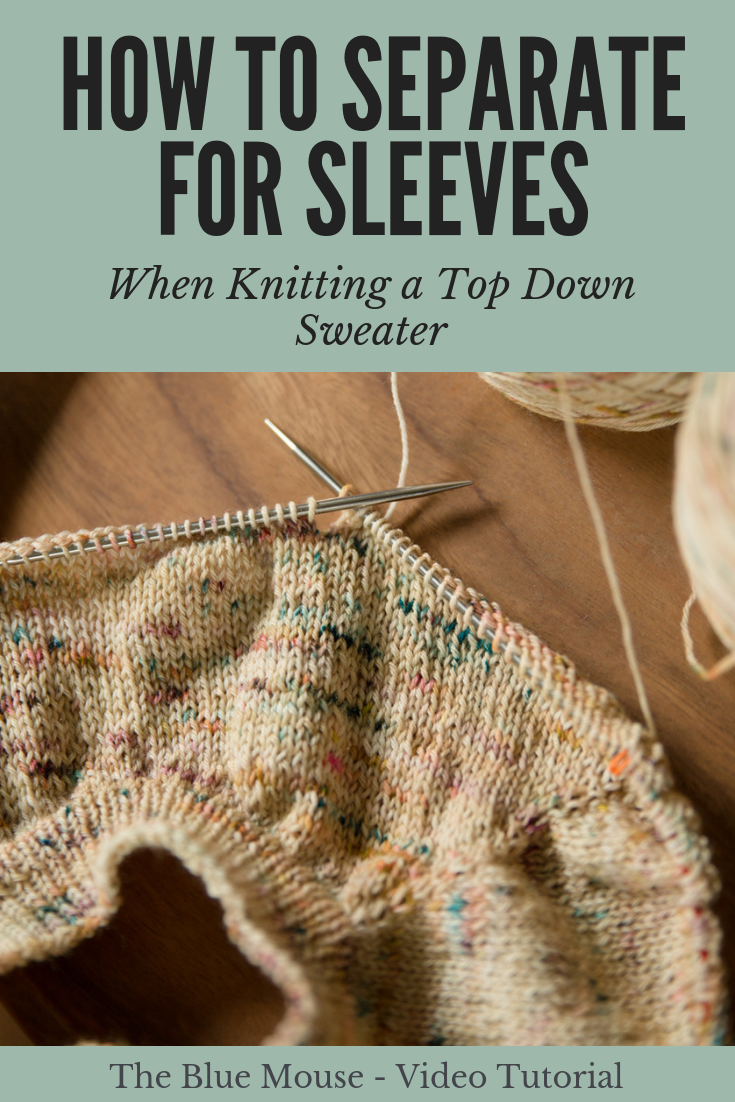 How To Separate For Sleeves When Knitting A Top Down Seamless