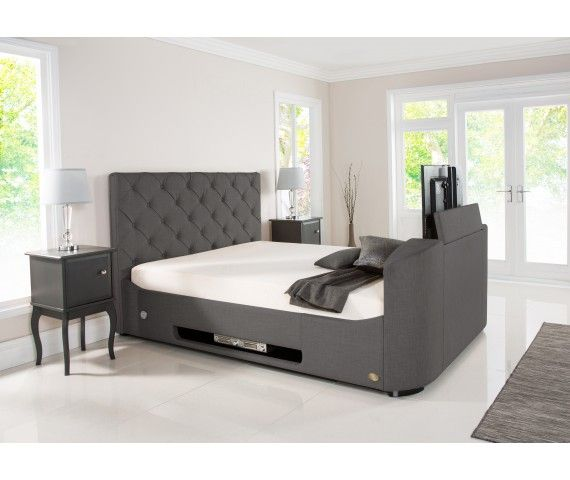 Liberty Wilson Grey Fabric Tv Bed With Storage Tv Beds New