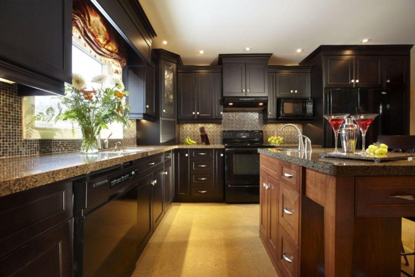 20 Beautiful Kitchens With Dark Kitchen Cabinets  Dark Kitchen Alluring Dark Kitchens Designs Review