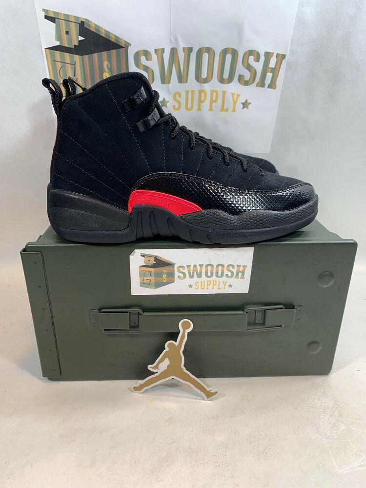 new product fa8fe 628dd Nike Air Jordan 12 XII Retro SZ 4.5Y Black Dark Grey Rush Pink GS  510815-006  Jordan  Athletic