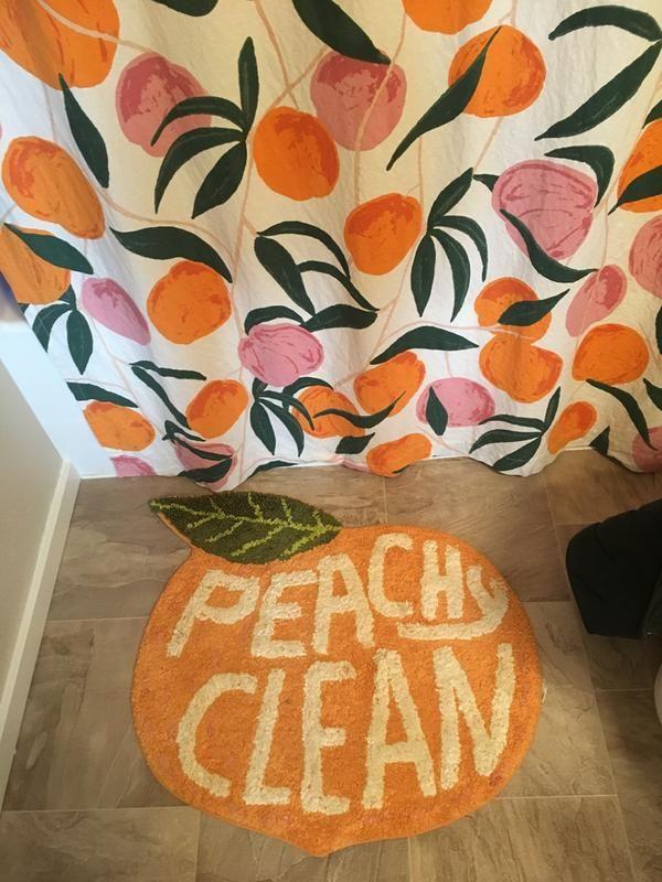 Peachy Clean Bath Mat In 2019 College Bathroom Dorm