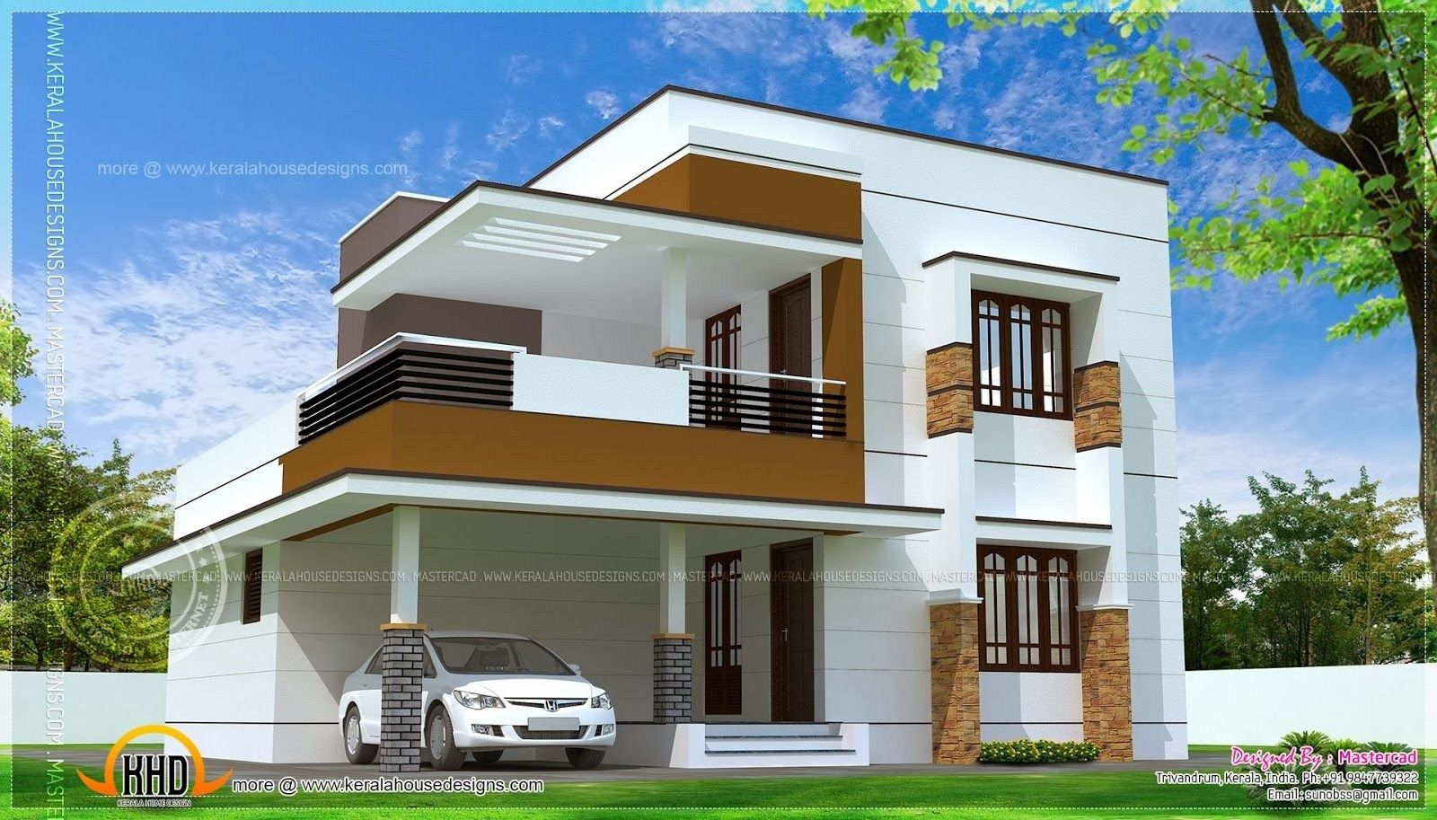 35 Charming Modern Homes Design In 2020 Kerala House Design Simple House Design Modern House Plans