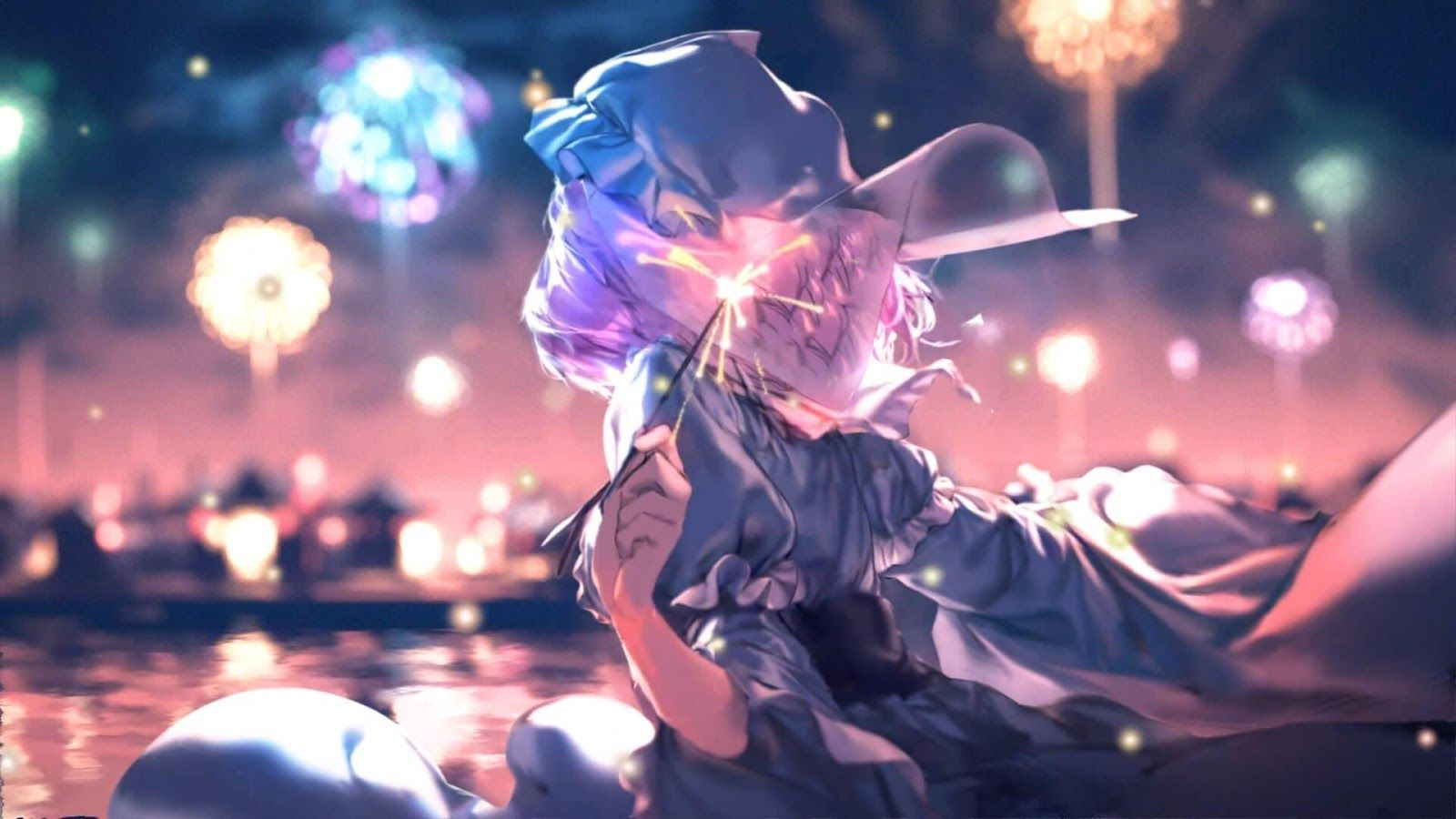 Touhou Project 1080p 60fps Wallpaper Engine Anime Anime Backgrounds Wallpapers Anime Wallpaper 1920x1080 Pink Wallpaper Anime