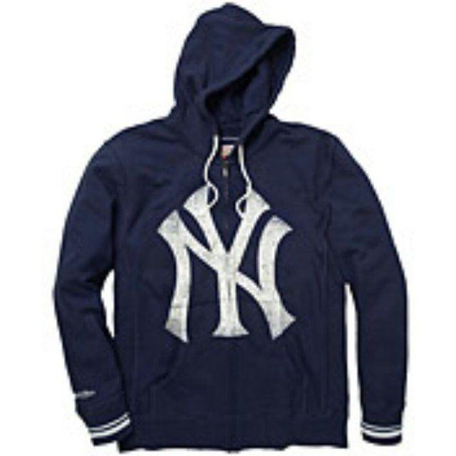 Fancy - New York Yankees Full-Zip Hoody by Mitchell & Ness