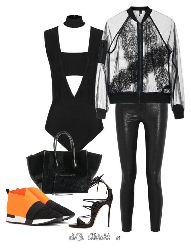 """dress up or down"" by scarletoliviax on Polyvore featuring J Brand, Balenciaga, Dsquared2 and Topshop"