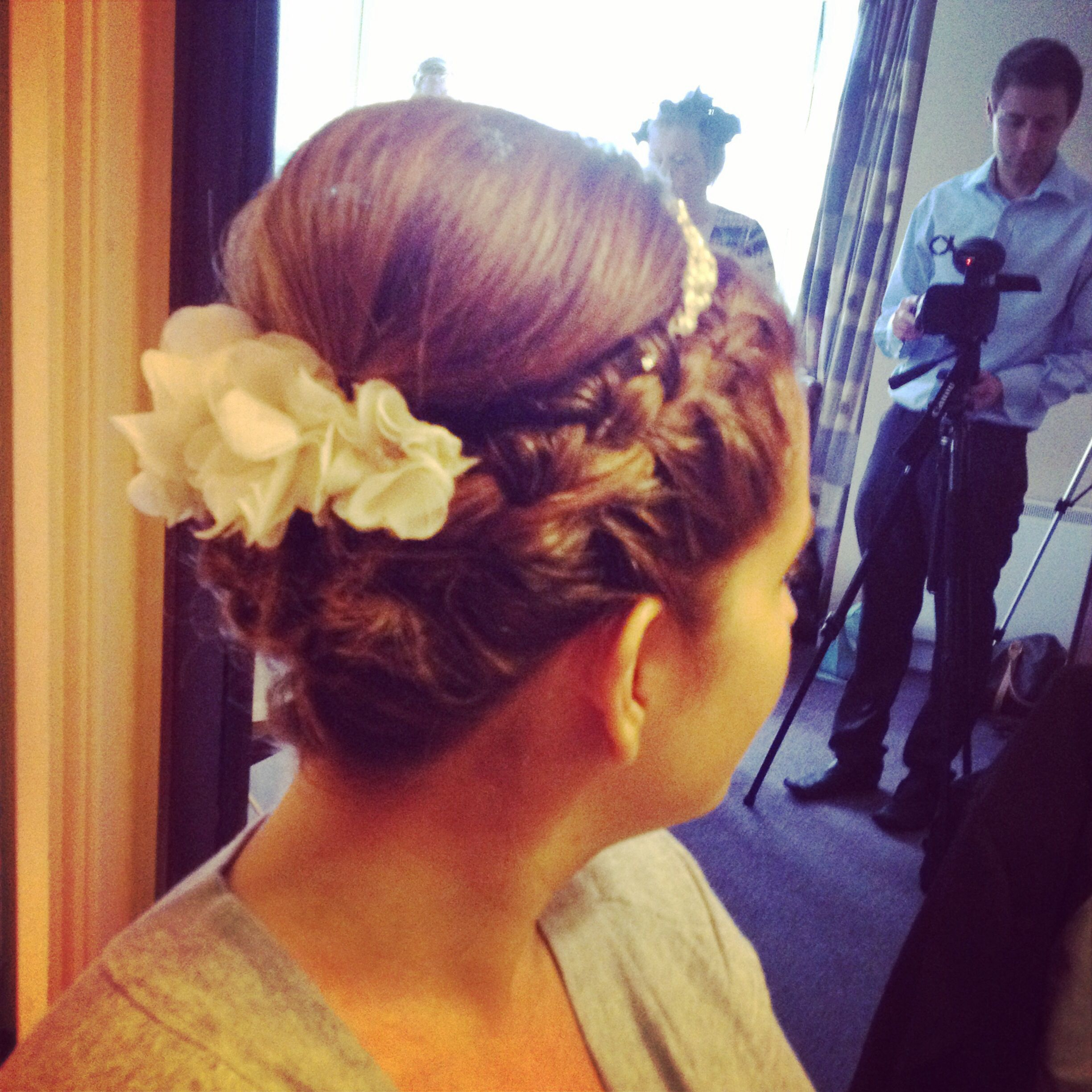 Short inverted bob, hair up this is a brides hair style I did recently
