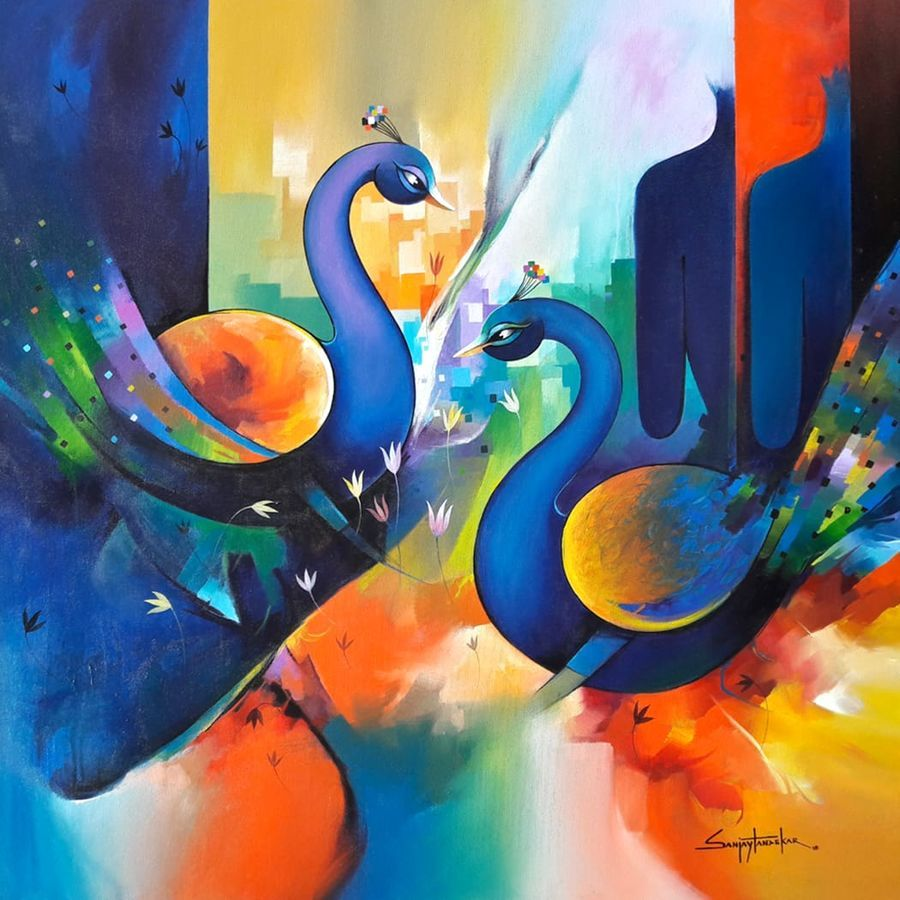 Love Forever 2 Painting for Sale by Artist Sanjay Tandekar
