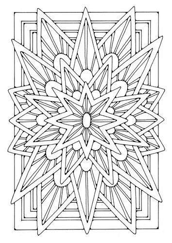 Geometric Star Coloring Pages Coloring Page Mandala Star Mandala Coloring Pages Coloring Pages Coloring Books