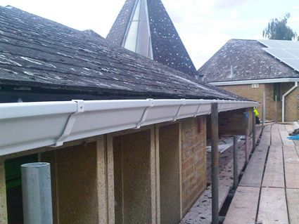 Ogee Guttering On A Commercial Building Ogee Style