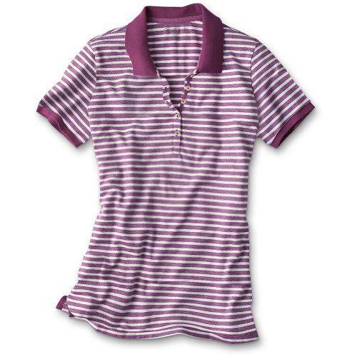 Eddie Bauer Striped Bird's-Eye Piqué Polo Shirt