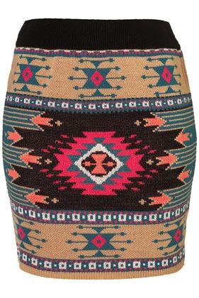 Aztec skirt on top shop