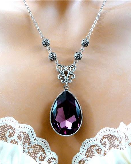 Stunning AMETHYST necklace , from Iryna