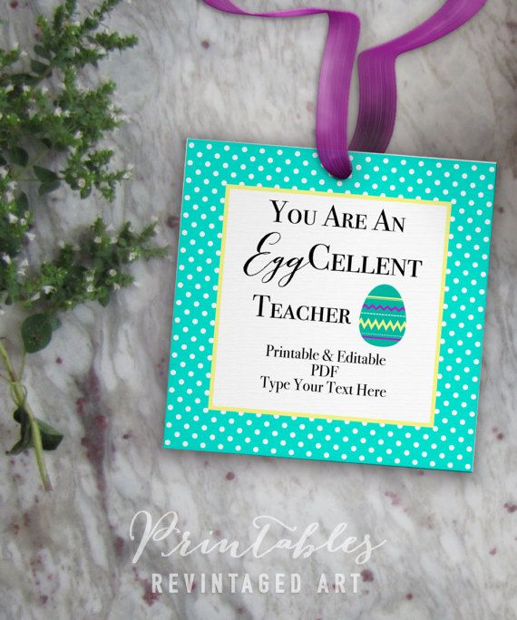 Easter teacher tags you are an eggcellent teacher by revintagedart easter teacher tags you are an eggcellent teacher by revintagedart negle Image collections