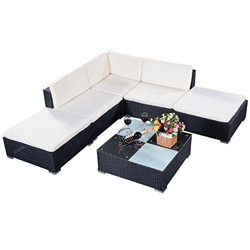 Vidaxl canapé d angle avec table et coussins aluminium wpc ...