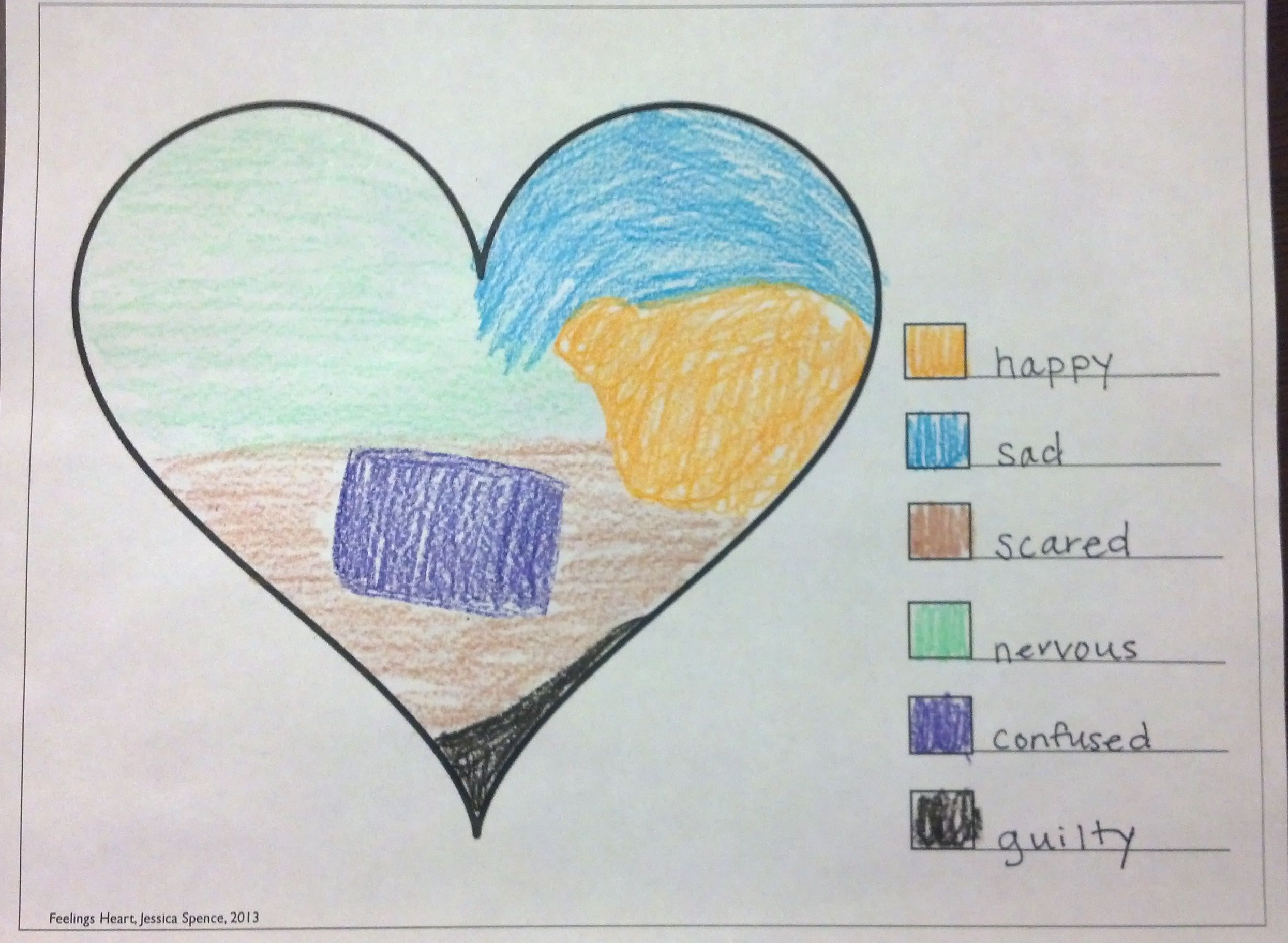 What Feelings Are In Your Heart An Art Therapy Exercise For Kids Therapy Tool Box