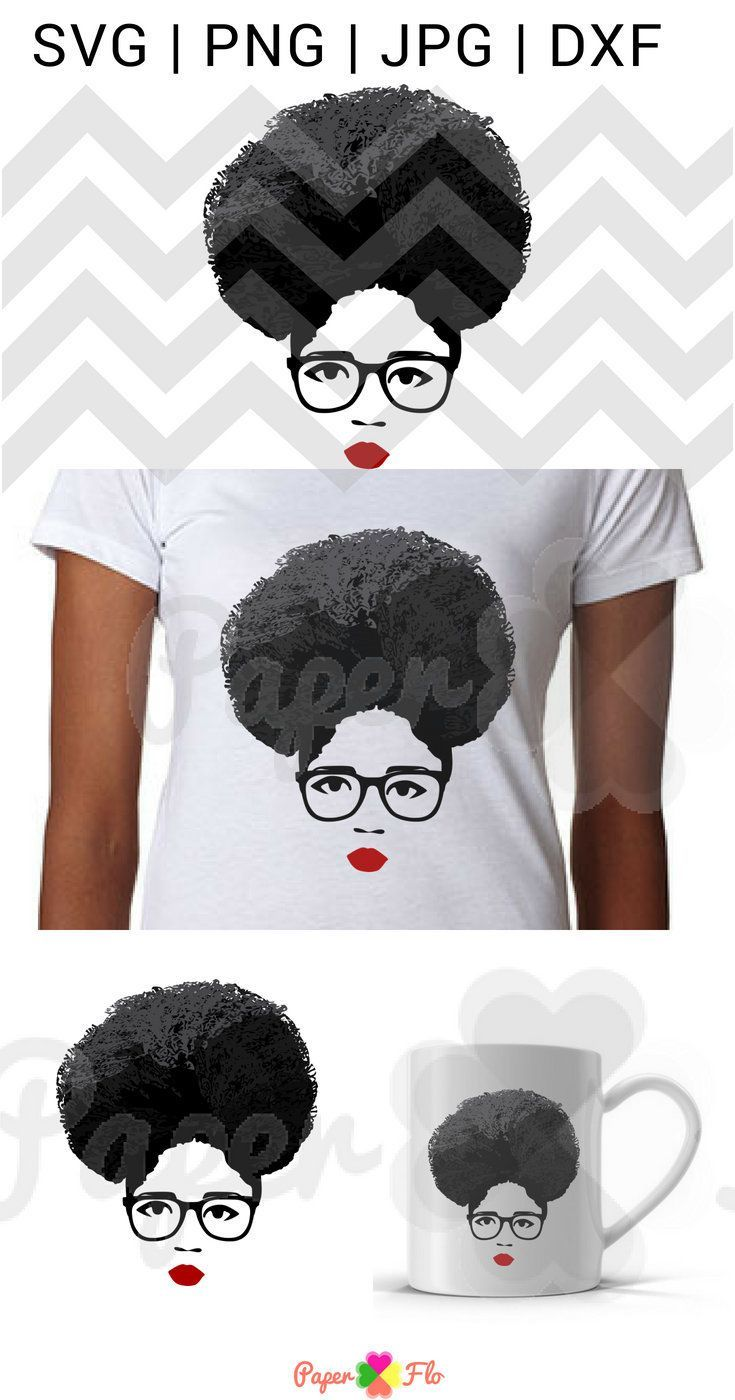 Afro hair lady svg grey hair svg gray hair SVG face svg Black woman