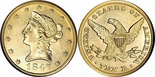 Coronet Head Gold 10 Eagle New Style Liberty Head No Motto Us Coin American Eagle Gold Coin Coins Gold Eagle Coins