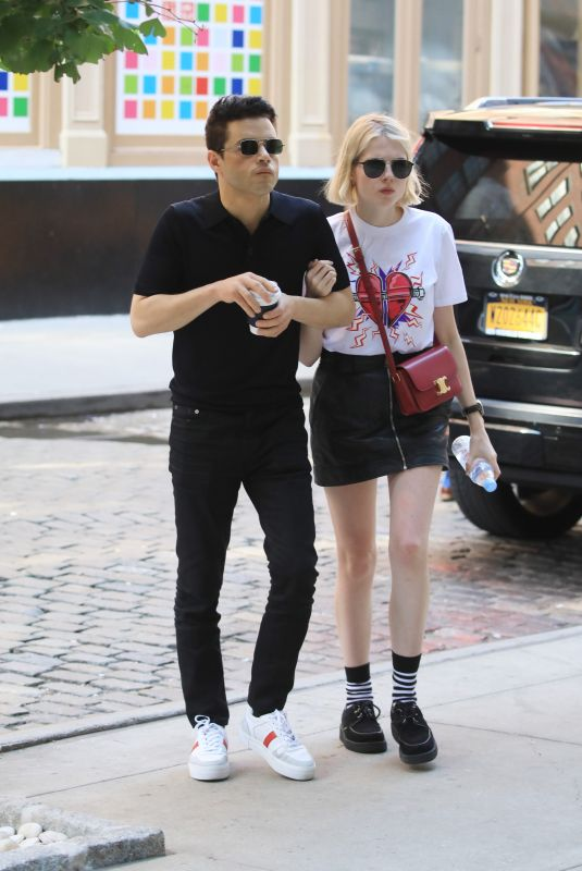 LUCY BOYNTON and Rami Malek Out in New York 09/26/2019