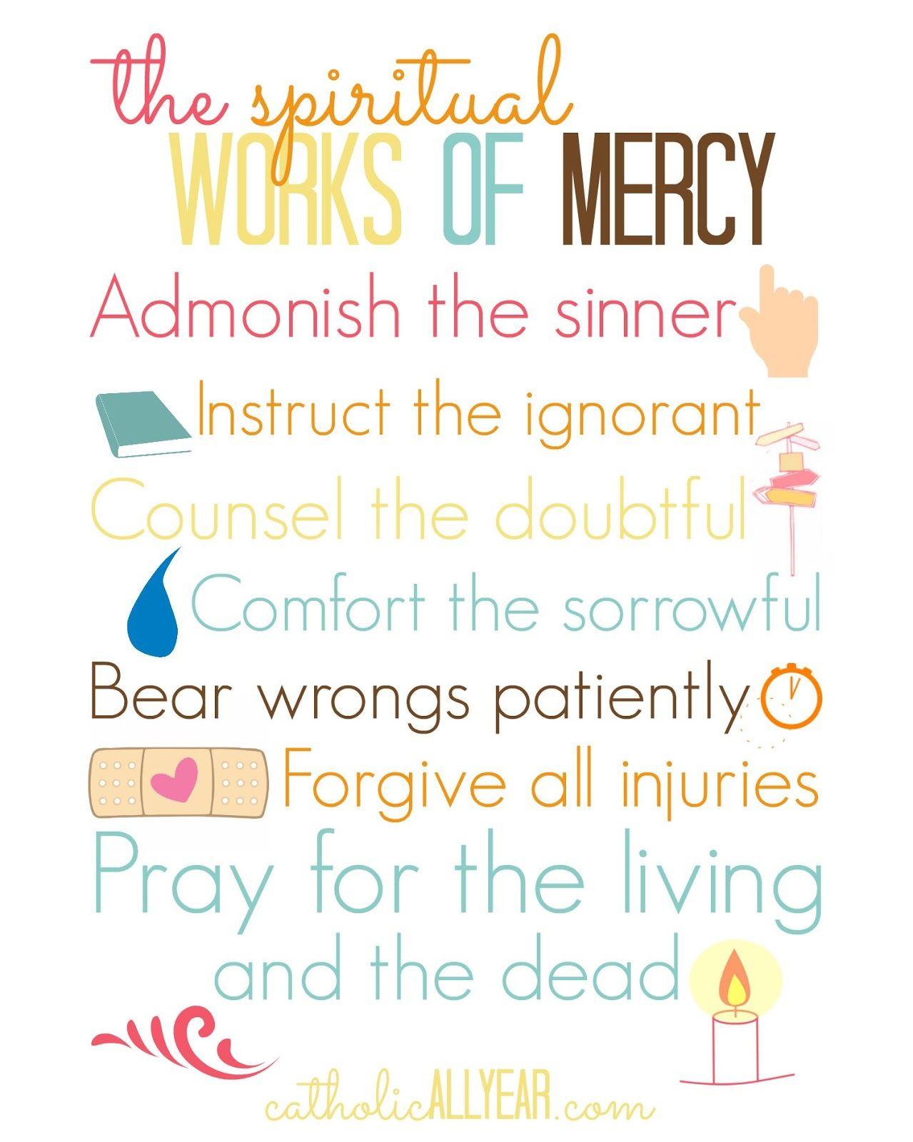Catholic Corporal Works Of Mercy Mersnoforum