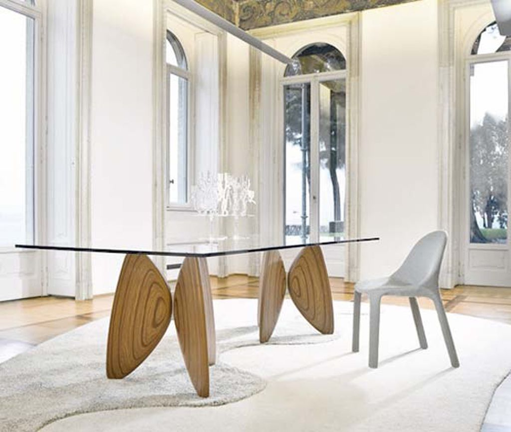 Glass Wood Dining Table Combination Dining Room Style Glass