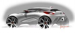 Renault Captur Concept Design Sketch