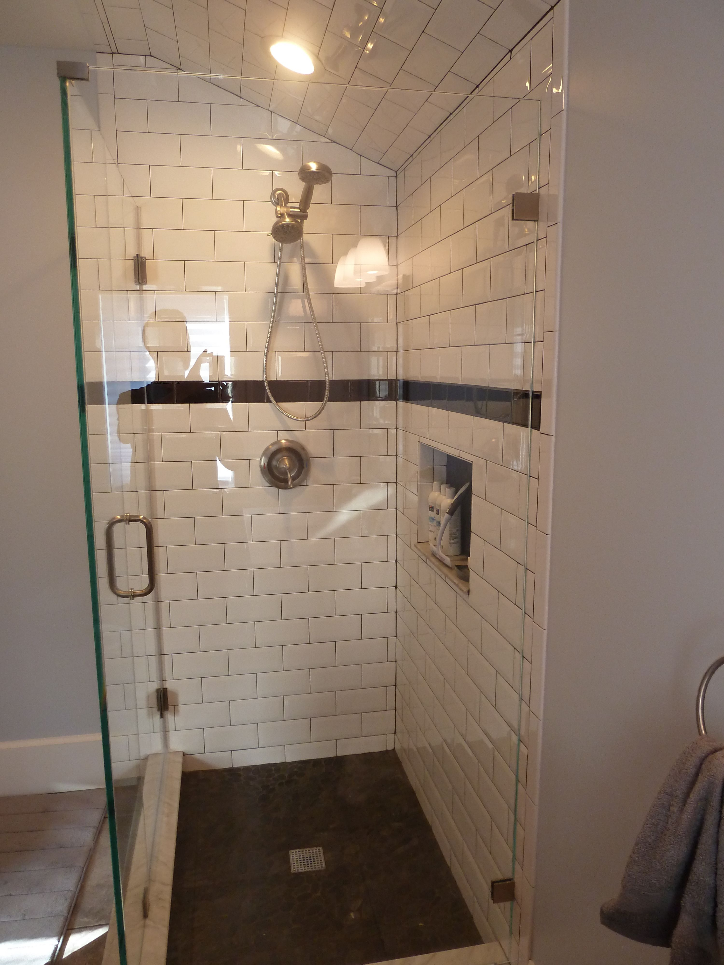 and river of doorless tile with elegant curbless shower ideas bathroom floor floors awesome rock