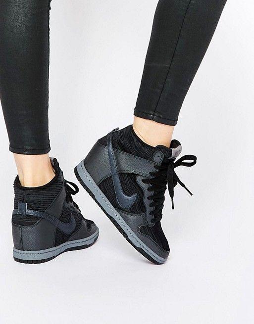 Noir Compensées Shoes Dunk Sky Hi Baskets Nike q4vgPwz