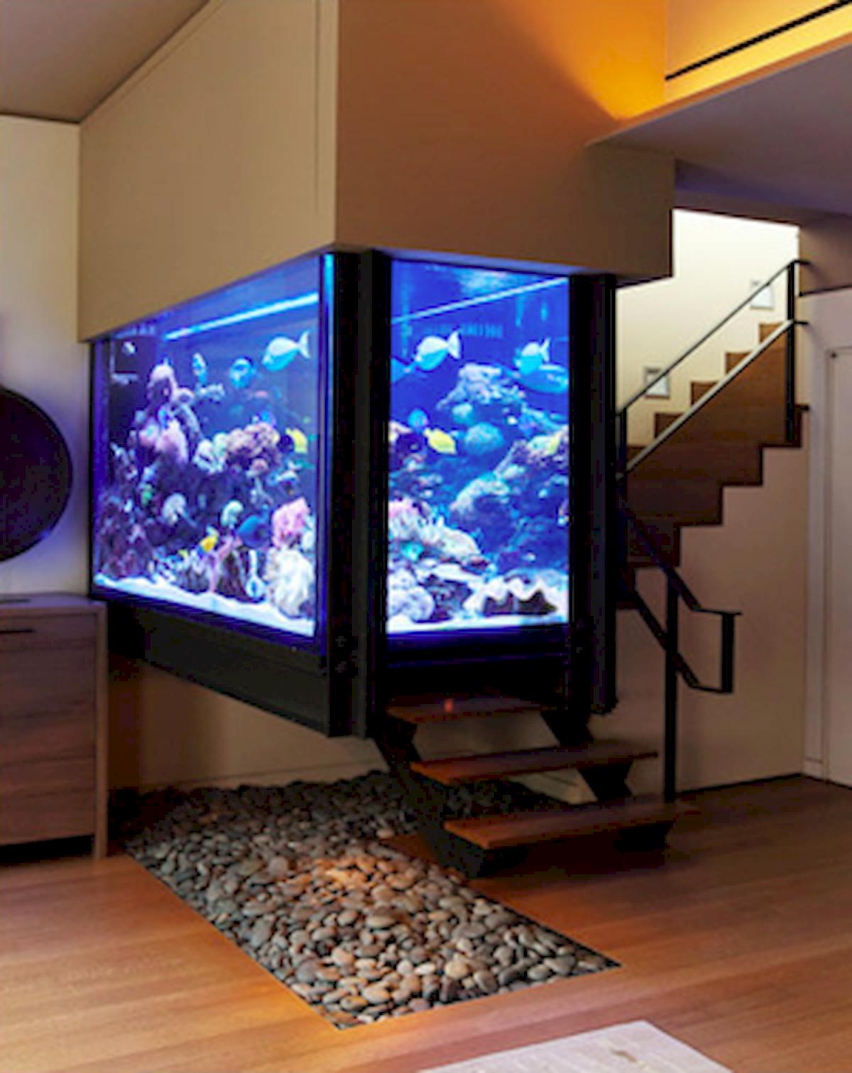 Home Aquarium Design Ideas: Aquarium Wall Decorating