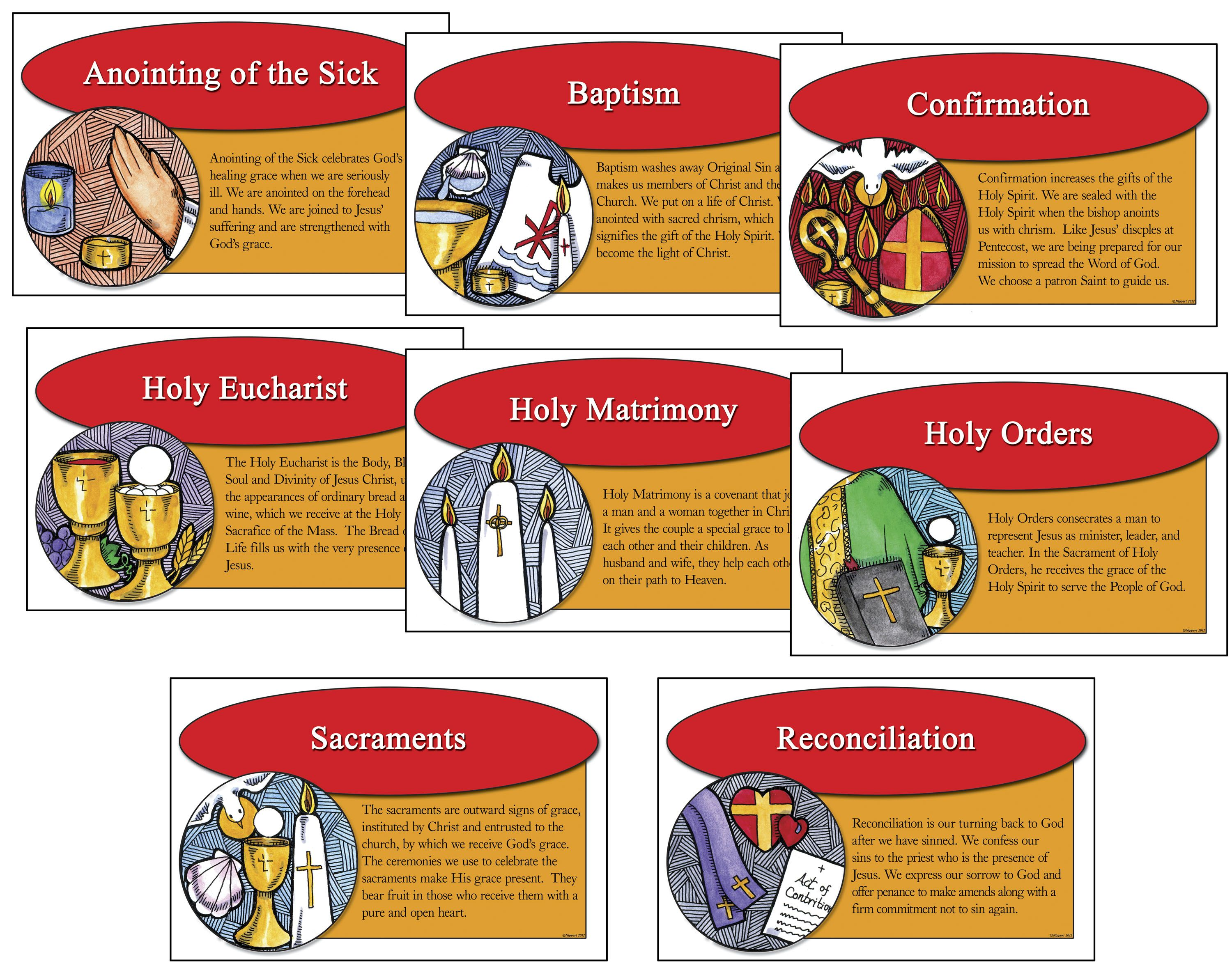 Clip Art Free Images Of The Seven Sacraments With