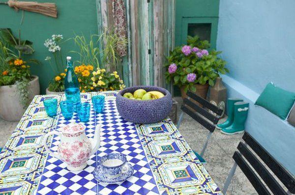 Salones y patios en estilo mediterráneo - Decoracion