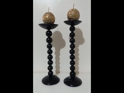 Vasos decorativos feitos com material reciclável e bolas de isopor -  Artesanato DIY - Reciclagem - YouTube b0a4dfab27a46