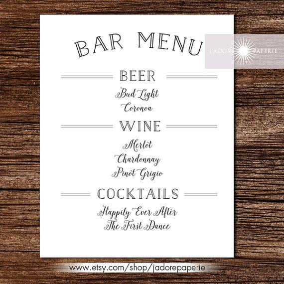 30 Free Psd Eps Documents Download Free Premium Templates Drink Menu Wedding Drink Menu Bar Menu Wedding