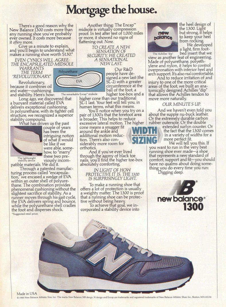 New Balance 1300 Advertisement 1984 スニーカー メンズ