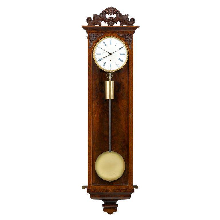 1stdibs biedermeier thirty day regulator clock wall for Antique wall clock for sale