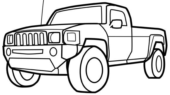 Printable Coloring Pages Cars And Trucks