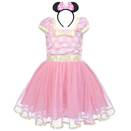 8de9796b1 IWEMEK Toddler Girl Princess Polka Dots Christmas Birthday Costume ...